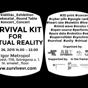 Final event: Survival Kit for Virtual Reality