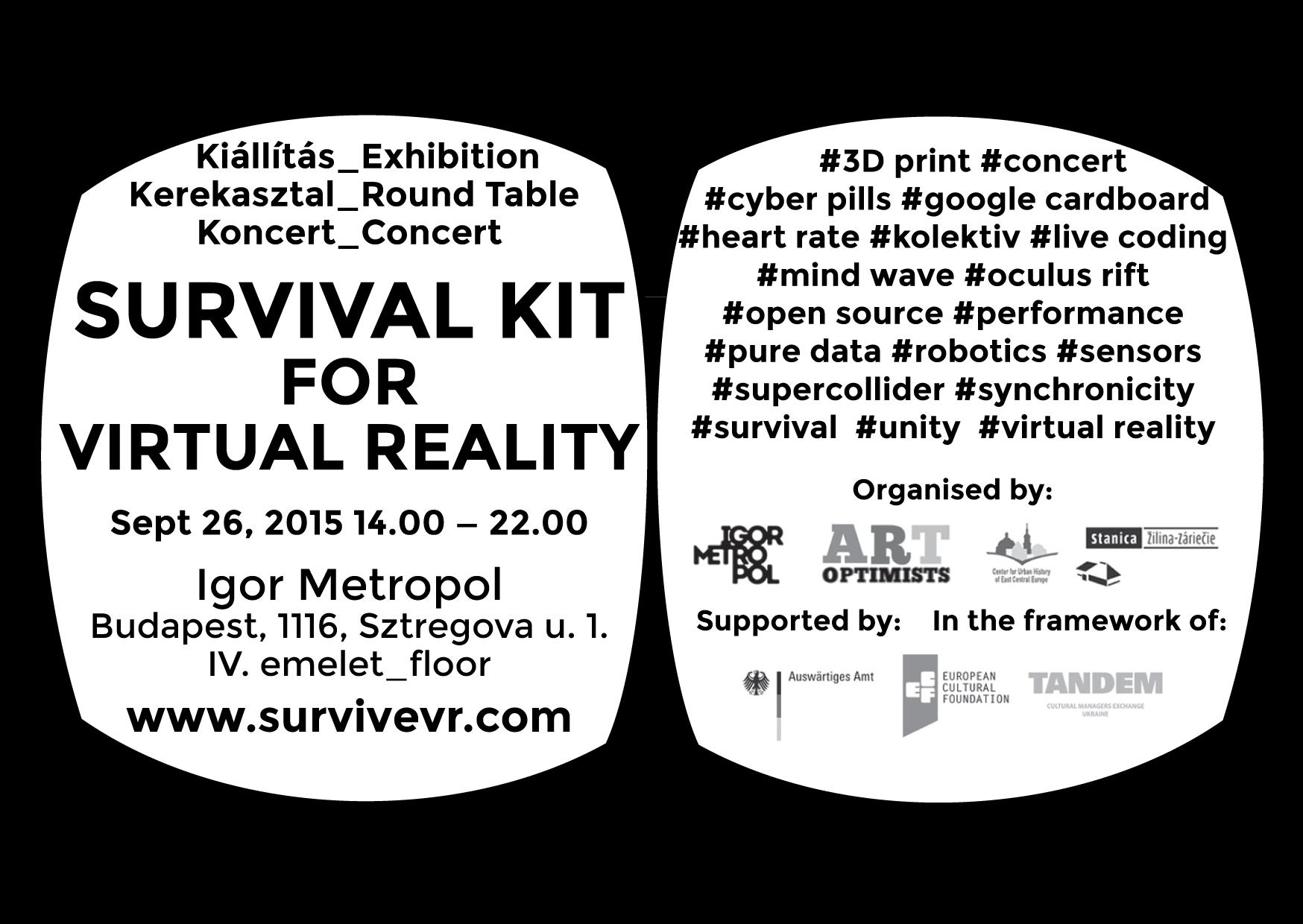 Final event: Survival Kit for Virtual Reality   igor metropol